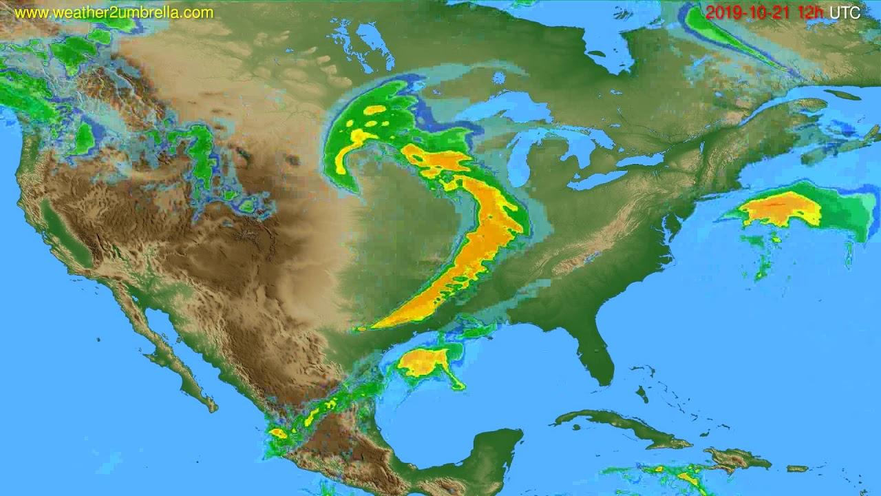 Radar forecast USA & Canada // modelrun: 00h UTC 2019-10-21