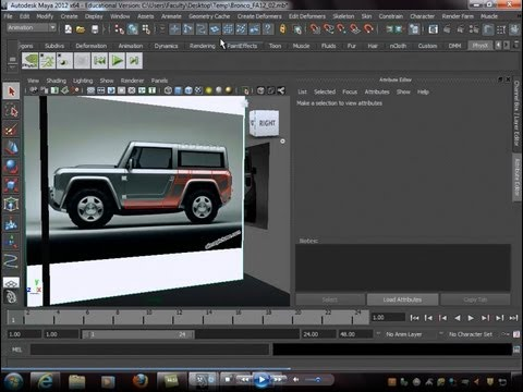 edge lecture - This video demonstrates how to start building a Bronco Concept vehicle using edge flow modeling technique as well as box modeling.