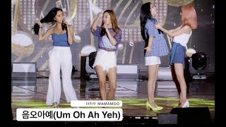 20170724 울산 서머페스티벌 쇼! 음악중심, Ulsan Summer Festival Show! Music Core마마무 MAMAMOO[4K 직캠]음오아예(Um Oh Ah Yeh)@170724 Rock Music 마마무 MAMAMOO 4K FANCAM  slog-3 color gradingDon't re-upload. it is prohibited to reupload the entire video.