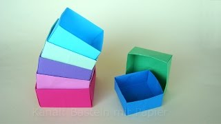 schachtel falten origami box basteln basteln mit. Black Bedroom Furniture Sets. Home Design Ideas