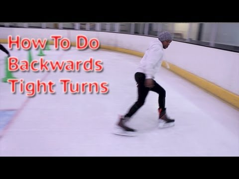 How To Do Backwards Hockey Tight Turn – Learn Backwards Power Turn Ice Skating Tutorial