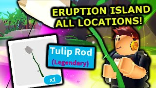 LEGENDARY *TULIP* ROD, ALL REFRIGERATOR PART LOCATIONS & MYTHIC FISH! | Roblox Fishing Simulator