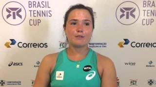 Gabriela Cé avança às quartas de final do Brasil Tennis Cup