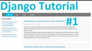 Django Tutorial Web Development With Python Part 1: Installing Django
