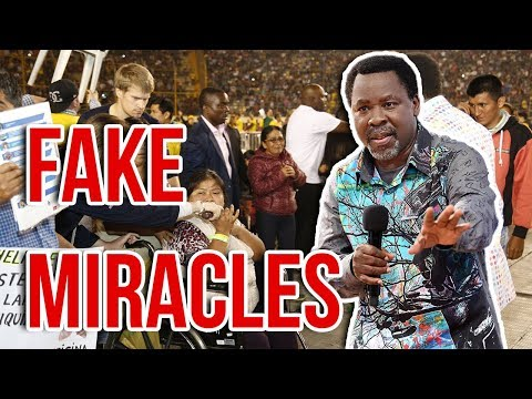 TB Joshua Caught Using Witchcraft To Perform Miracles