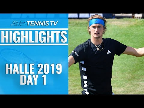 Zverev & Khachanov Through; Monfils Knocked Out | Halle 2019 Highlights Day 1