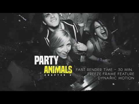 After Effects Template: Project Party Animals 4
