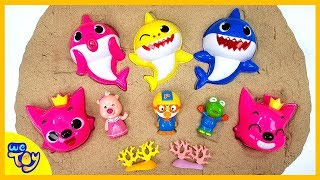Video Pinkfong Baby Shark Playing in the Sand. Color for Children to Learn with Toy Cars | WeToy MP3, 3GP, MP4, WEBM, AVI, FLV Mei 2019