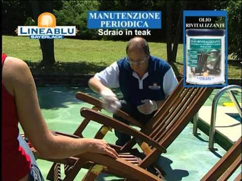 Manutenzione periodica sedia e sdraio in Teak