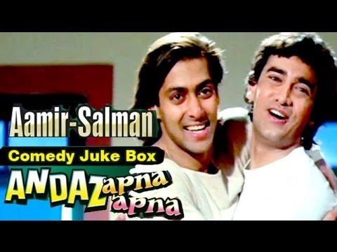 Video Best Comedy Scenes of Aamir Khan and Salman Khan, Andaz Apna Apna - Jukebox 10 download in MP3, 3GP, MP4, WEBM, AVI, FLV January 2017