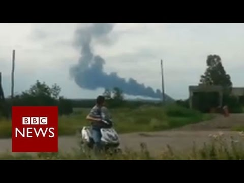 AIRLINER - A Malaysian airliner with 295 people on board has crashed in Ukraine on a flight from Amsterdam to Kuala Lumpur, amid allegations it was shot down. This footage has emerged online. Subscribe...