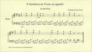 Mozart, 8 Variations on Come un agnello, K 460 454a, Theme