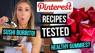Pinterest Recipes TESTED || 3 EASY Meals & Snacks for School or Work! by Rachhloves