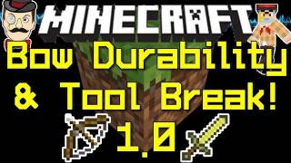 Minecraft 1.0 BOW Durability&Tool Breaking Animation ! New Sounds !