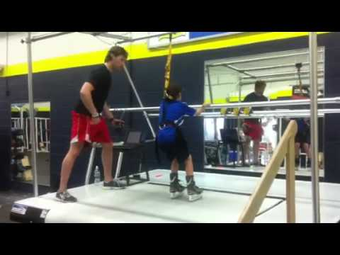 Novice hockey drills skating treadmill