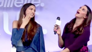 Deepika Padukone At The Launch Of Gillette Venus Breeze. Deepika Padukone & Neha Dhupia Most Funny Conservation.