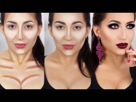 Стройное лицо с помощью макияжа