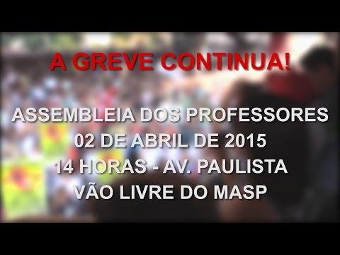 Próxima assembleia quinta 02/04/2015