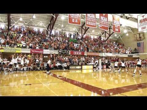 Just how loud is Gregory Gym during a Volleyball match? [Sept. 24, 2013]
