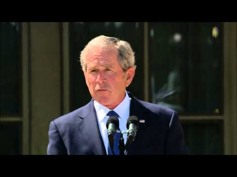 bush - The dedication of the George W. Bush Presidential Library was attended by its namesake and the four other living presidents. Jeffrey Brown discusses presiden...