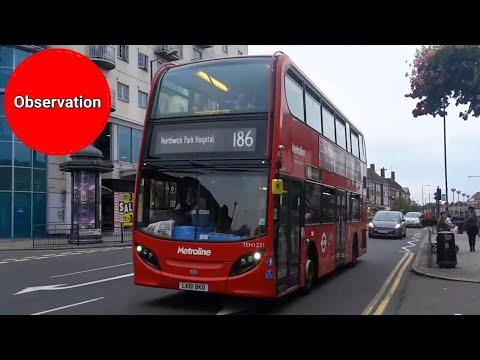 Buses in Edgware August 2017 (видео)