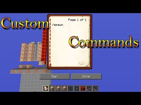 how to make custom chat commands in minecraft
