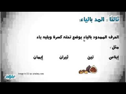 حروف المد - لغة عربية