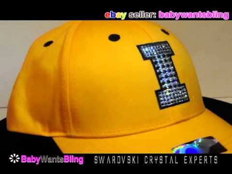 Swarovski Crystal Rhinestone Iowa Hawkeyes Bling Ladies Cap Hat
