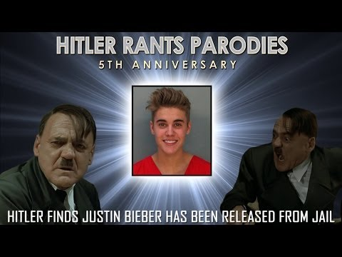 Hitler finds out Justin Bieber has been released from jail