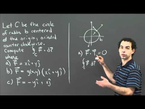 Linienintegrale durch geometrische Überlegungen | MIT 18.02SC Multivariabler Calculus, Herbst 2010
