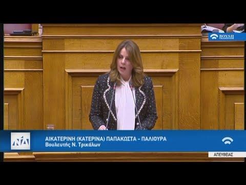 Video - Ομιλία της Κατερίνας Παπακώστα στο Κοινοβούλιο σχετικά με το Σ/Ν του Υπουργείου Παιδείας