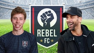 HERE IT IS! REBEL FC'S FIRST GAME!RIO ON THE BENCH VIDEO SUBSCRIBE TO REBEL FC:https://youtu.be/lbWyr8nGqS0Thanks to Slash Football for stepping up! https://www.youtube.com/user/footballThanks to Rio Ferdinand for managing Rebel FC http://www.youtube.com/5magazineFollow us on our Social MediaTwitter - http://www.twitter.com/FCRebelTweetsInsta - http://www.instagram.com/rebel.fcFacebook - http://www.facebook.com/RebelFootball...Website - http://www.fcrebel.comCheck out the Rebel FC Players in this video and subscribe!Andrew Savva - https://www.youtube.com/channel/UCvOuHiYfF8JtzwhK39hnuGAAndrew Willz - http://www.instagram.com/AndrewwillzEman Sv2 - https://www.youtube.com/user/SynxcV2Hugh Wizzy - https://www.youtube.com/user/hughwizzyMike Fox - https://www.youtube.com/channel/UCC31...Casey - https://www.youtube.com/channel/UC9l3VSw_xJhPkV6LJ6SzsnQReev - https://www.youtube.com/user/TheReevHDRhys - https://www.youtube.com/channel/UCVM5u_eZIxBYS3UvRH_cS8QJoel/CheekySport - https://www.youtube.com/channel/UCM6HpVIOZkQ7IAtAf8E14iARambo- https://www.youtube.com/channel/UCtMg-fWm7awR41vM1GhVOkAJamie - https://www.instagram.com/ldnmovements/?hl=enJames -https://www.instagram.com/jvmesrobinson/Rory - https://www.instagram.com/roryharper1/SUBSCRIBE: http://bit.ly/1OLZDDlCheck Out More FIFA, Football, and Life Content Here:► Snapchat - Calfreezyy► Instagram - http://www.instagram.com/realCalfreezy► Twitter - http://twitter.com/Calfreezy► Facebook - http://www.facebook.com/Calfreezy► Vine - https://vine.co/u/928889659206017024► Second Channel - http://www.youtube.com/MoreCalfreezyHOW I RECORD MY GAMEPLAY! - http://e.lga.to/cAbout Calfreezy: I am a FIFA, football, and comedy YouTuber that brings consistent entertainment with my unique videos. Subscribe to up your FIFA game, see me pack the best Ultimate Team players, collab with some of my YouTube friends, and just mess around!