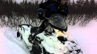 9. Tundra Extreme 2011 Skidoo carving powder