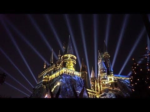 Holidays At Universal Orlando  Harry Potter Projection Show, Holiday Parade & More Christmas Magic!