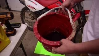 10. How to change the oil in a Honda CRF100
