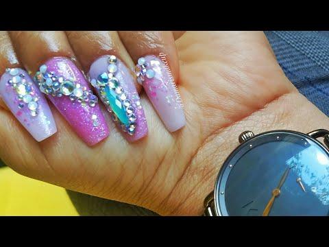 Videos de uñas - Uñas Para mi  Cumpleaños 2018 acrylic nails