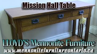 Mennonite Mission Hall Table