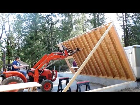 How to frame a garage (DJI Phantom 4) #11 Part 2