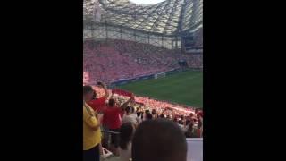 40 tys polskich gardeł śpiewa hymn przed meczem z Ukrainą! Duma rozpiera!