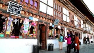 Paro Bhutan  city photos gallery : Tourists shopping at Paro Bazaar in Bhutan
