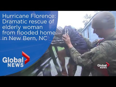 Hurricane Florence: Elderly woman rescued from home in New Bern, NC