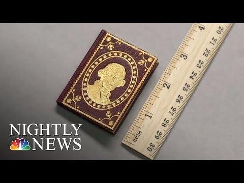 University Of Lowa Cataloging 4,000 Tiny Literary Jewels | NBC Nightly News
