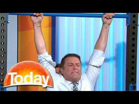 Karl goes for the chin-up world record   TODAY Show Australia
