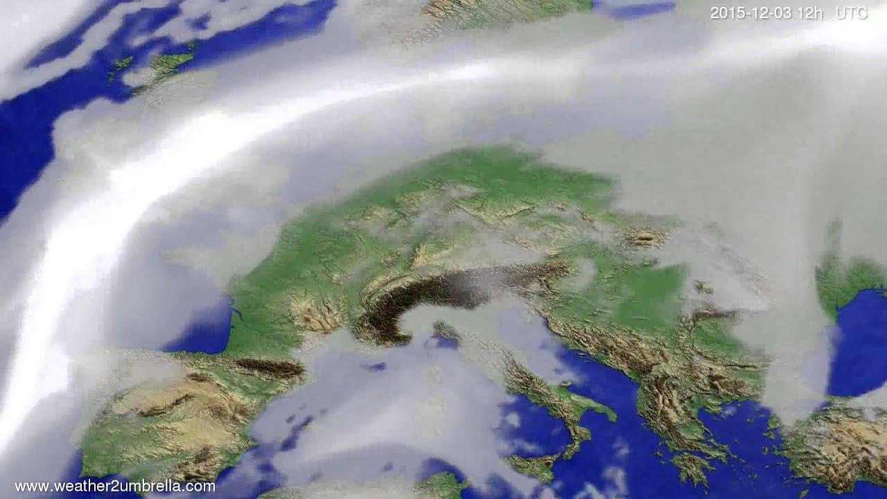 Cloud forecast Europe 2015-11-29