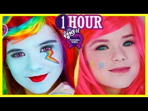 1 HOUR My Little Pony Makeup Tutorials & Play Doh! Rainbow Dash Equestria Girl Doll   Kittiesmama (видео)