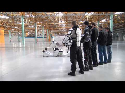 Test Flight of the Scorpion Hoverbike