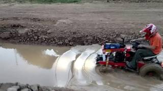 ATLTF.com Members playing in mud run hole at Haspin Acres.  Mrmodified, Doug fackler, therainbowboxer, stretch44875, Offroadohio,  creepycrawler