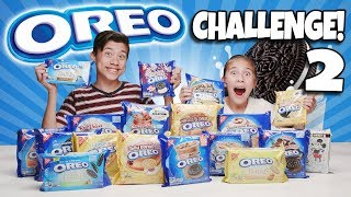 OREO CHALLENGE 2!!! The Blindfold Cookie Tasting Game Show Returns! 18 NEW Flavors!