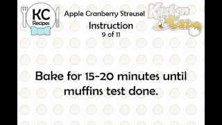 KC Apple Cranberry Streusel YouTube video