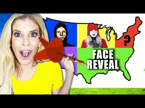 Throwing A DART At A MAP And Doing A FACE REVEAL Battle Wherever It LANDS! | Rebecca Zamolo